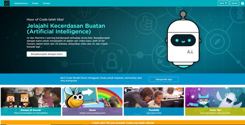 code.org bahasa indonesia ayah keren