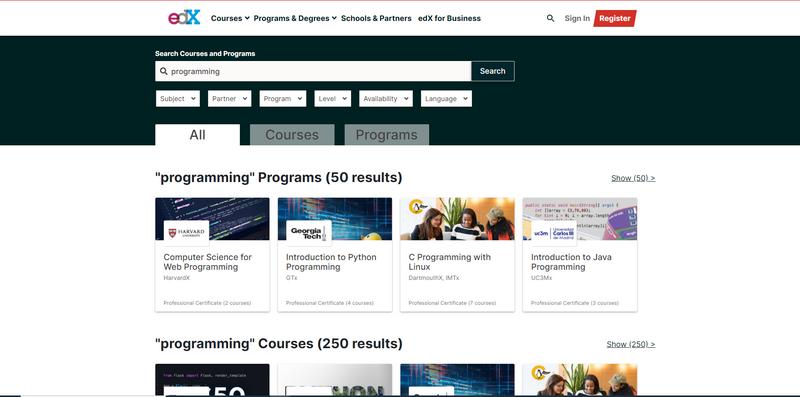 programming courses edx org ayah keren